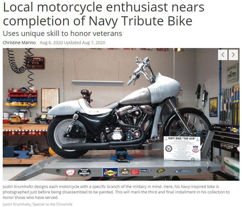 Navy Tribute Bike
