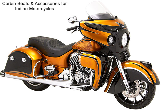 Corbin Saddles and Accessories for Indian Motorcycles