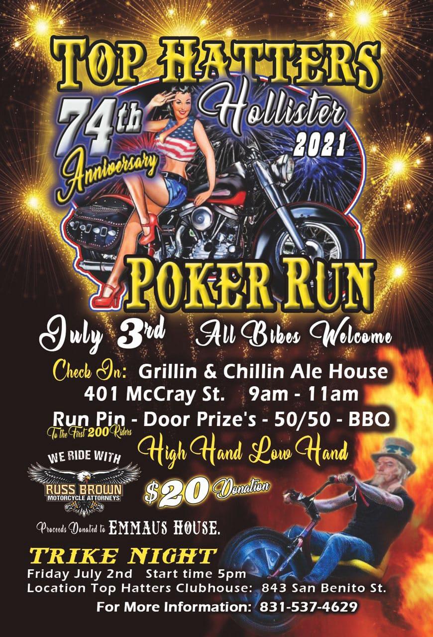 Top Hatters Poker Run 2021