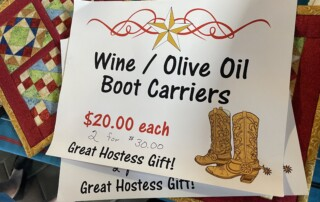 Wine boot carriers