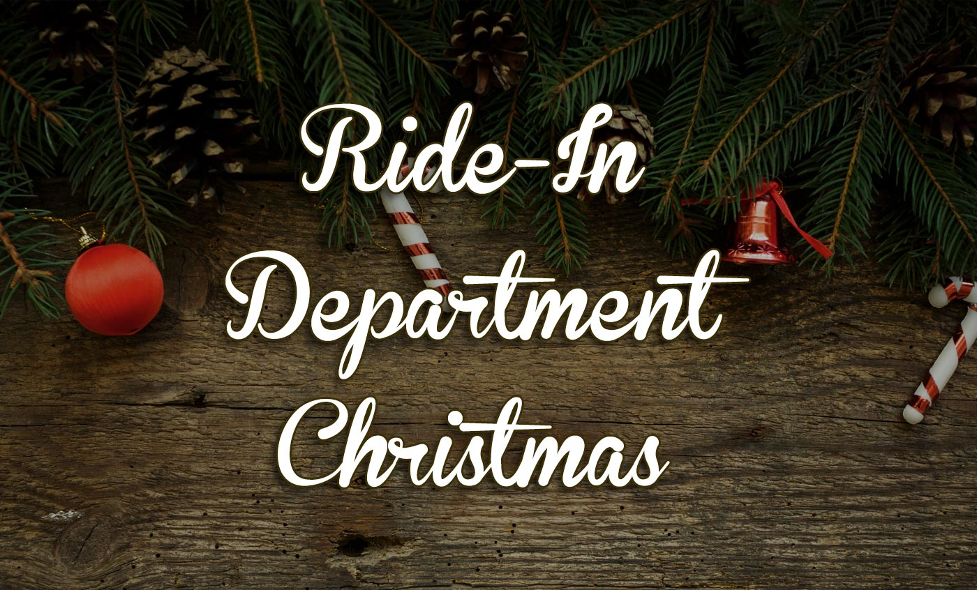 Ride-in department Christmas